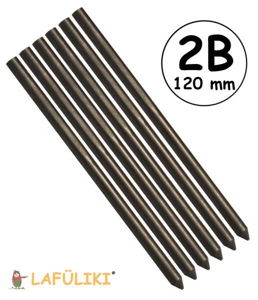 Koh-I-Noor Bleistiftmine Ø 5,6 mm 6er Pack - 2B - lang