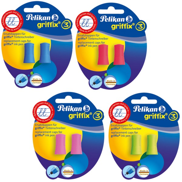 Pelikan Griffix Ersatzkappe für Tintenschreiber 2er Set