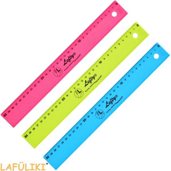KUM Linkshänder Lineal - 30cm - Flexi Lefty - Pop