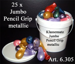 Klassensatz The Pencil Grip Jumbo maxi metallic