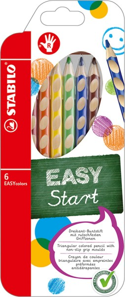 Stabilo easy colors 6er Set Rechtshänder