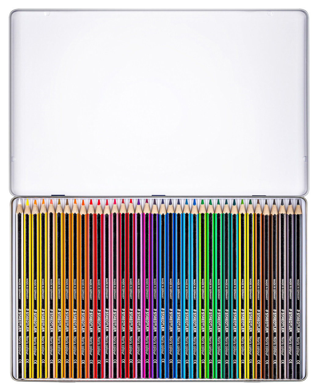 Staedtler-Noris-colour-185-Farbstift-36-Set-Metalletui-offen-lafueliki
