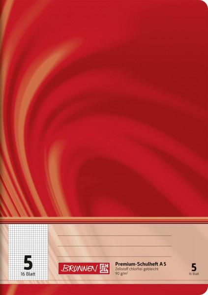 Schulheft A5 Premium Lineatur 5