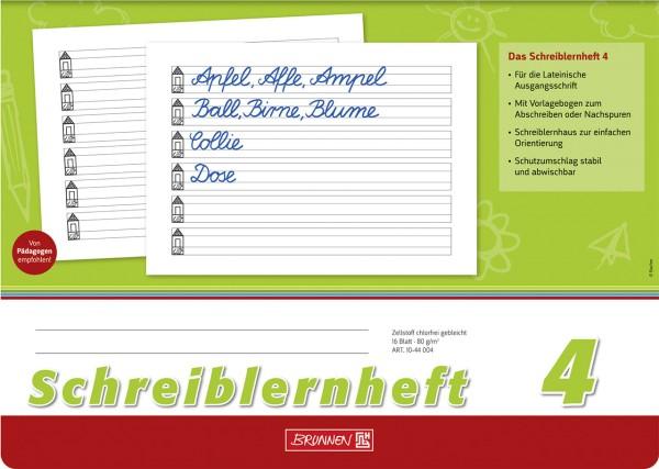 Schreiblernheft - 4 - A4 Brunnen