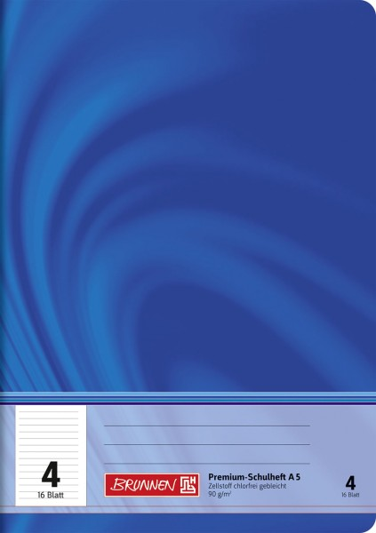 Schulheft A5 Premium Lineatur 4