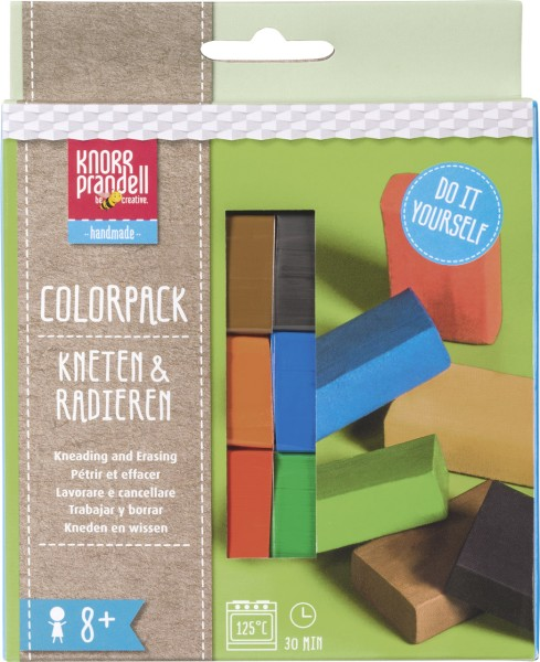 Bastelset - Kneten & Radieren - Colorpack - Basic