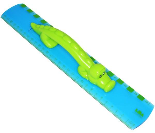 Lineal mit Griff - Krokodil - 30 cm