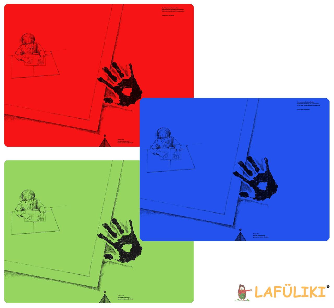 Linkshaender-Schreibunterlage-Dr-Johanna-Barbara-Sattler-aus-Kunststoff-rot-blau-gruen-kaufen-lafueliki