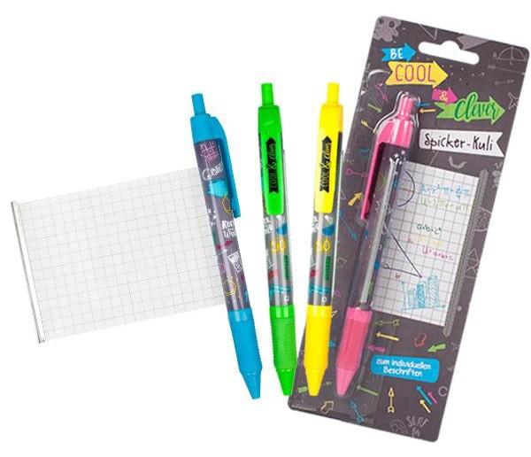 Spicker-Kugelschreiber mit Notizzettel