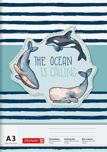 Brunnen Zeichenblock - A3 - Happy Ocean