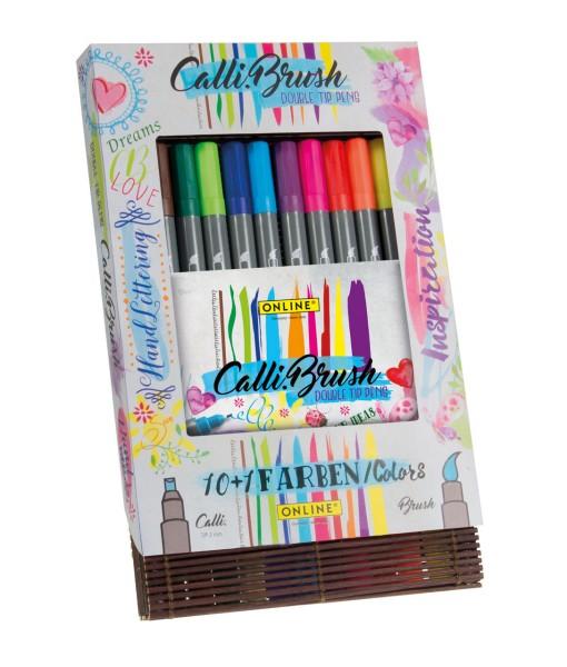 Online Calli Brush Pens in Bamboo Case