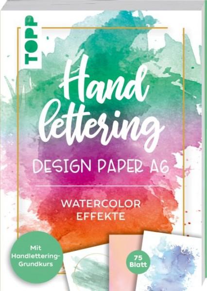 TOPP Handlettering Design Papier-Block - Watercolor Effekte - A6
