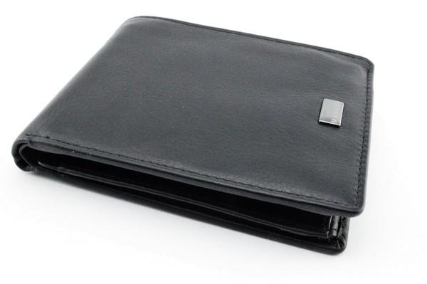 Linkshänder Portmonnaie Classic schwarz mit RV - Fach