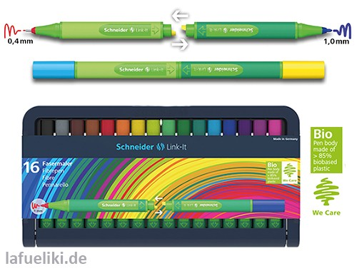 Link-It Fasermaler 1,0 mm im 16er Multipack