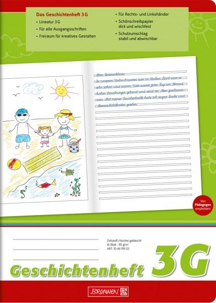 Geschichtenheft - 3G - A4 - Brunnen Klasse 3