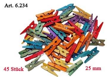 Holzklammern 2,5 cm 45 Stück
