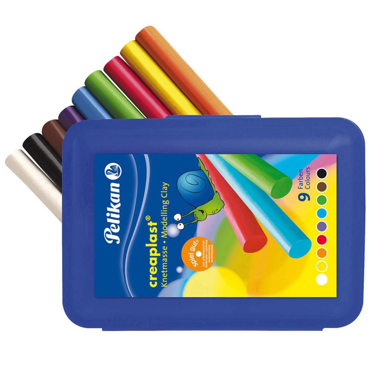 Pelikan creaplast Knetmasse 9 Farben Kneti -NEU!!! Plastilin
