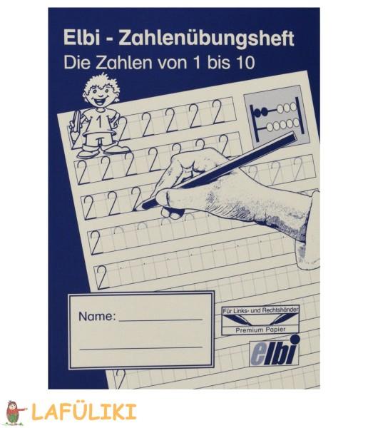 Elbi Zahlenübungsheft 1-10