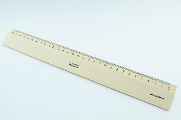 Linkshänder Holzlineal 30cm