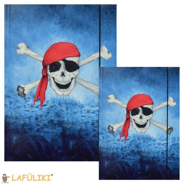 Sammelmappenset Pirat - Totenkopf