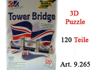 3D Puzzle - Tower Bridge - 120 Teile